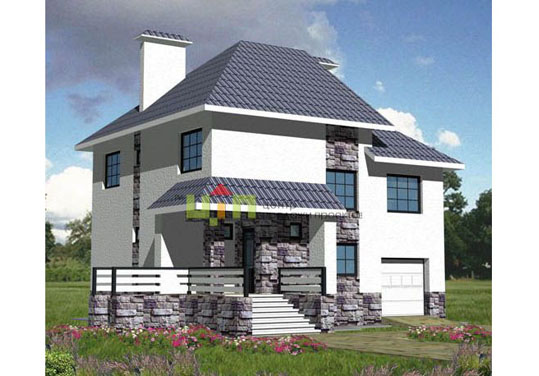 Жилой дом с цокольным этажом и гаражом